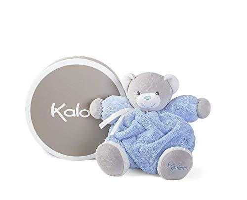 (Kaloo Plume Medium Chubby Bear - Blue Plush )