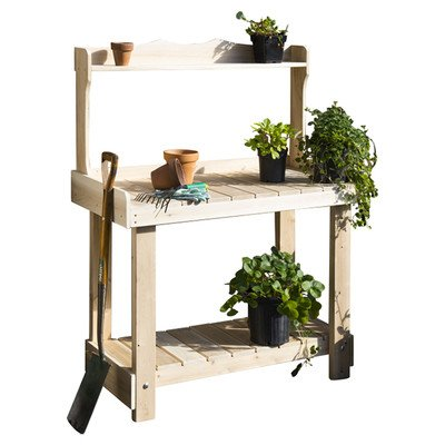 Cedar Potting Bench Planter