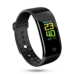 sanwo Activity Fitness Tracker Watch Colorful UI Touch Screen Smart Wristbands with Sleep Monitoring, HR, Blood Pressure, Alarm Clock, Calorie Counter, Pedometer and Weather for IOS/Android
