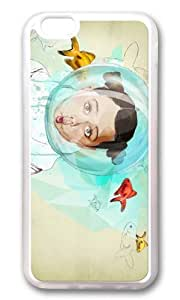 Apple Iphone 6 Case,WENJORS Adorable Fish Girl Soft Case Protective Shell Cell Phone Cover For Apple Iphone 6 (4.7 Inch) - TPU Transparent