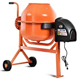 Goplus 1/2HP Electric Concrete Cement Mixer 2.2 Cubic Ft Barrow Machine for Mixing Mortar, Stucco and Seeds