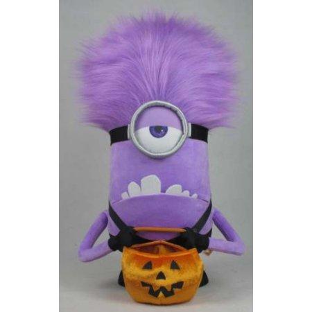 Halloween Plush Door Greeter Evil Purple Minion by Gemmy Industries