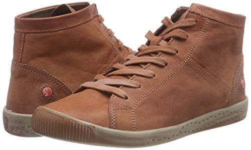 Alto brick Braun Sneaker Donna Isleen Collo Washed Softinos A 045 qX1pwFq8