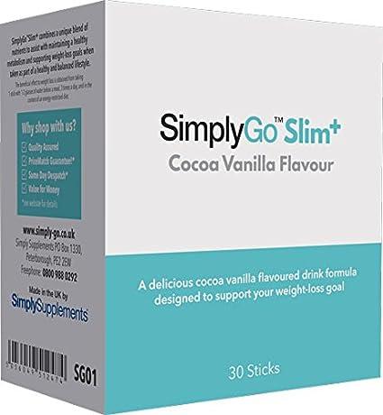 SimplyGo Slim+ - Deliciosa bebida sabor chocolate con ...