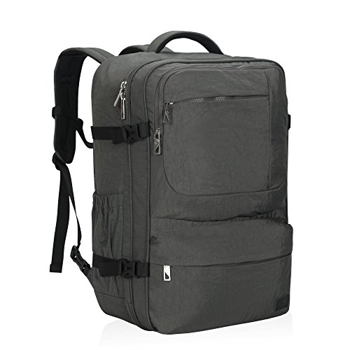 Hynes Eagle 44L Carry on Backpack Flight Approved Compression Travel Pack Cabin Bag, Grey-2018 (Best Travel Luggage Backpack)