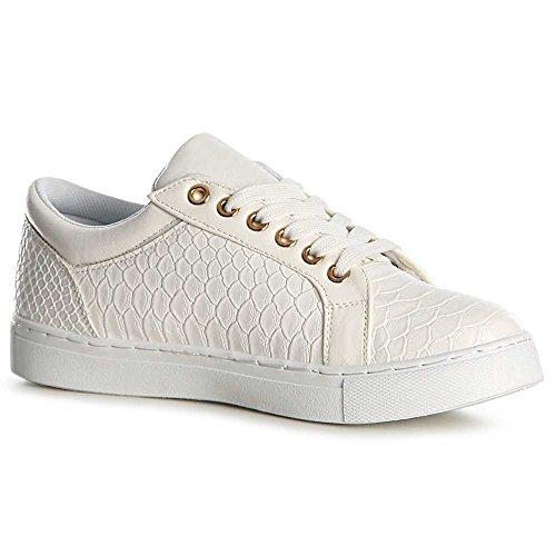 Topschuhe24 Topschuhe24 Donna Sneaker Donna Sneaker Bianco Bianco BvZqP