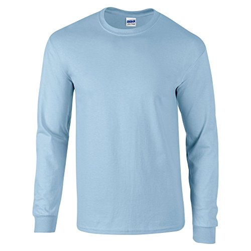 Maniche Tm Bleu Gildan Ultra A Maglietta Blau Clair Adult Cotton Lunghe HwOZqBY