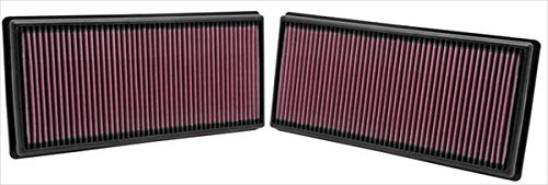 K&N engine air filter, washable and reusable:  2009-2018 Land Rover V6/V8 (Discovery, Range Rover, LR4) 33-2446