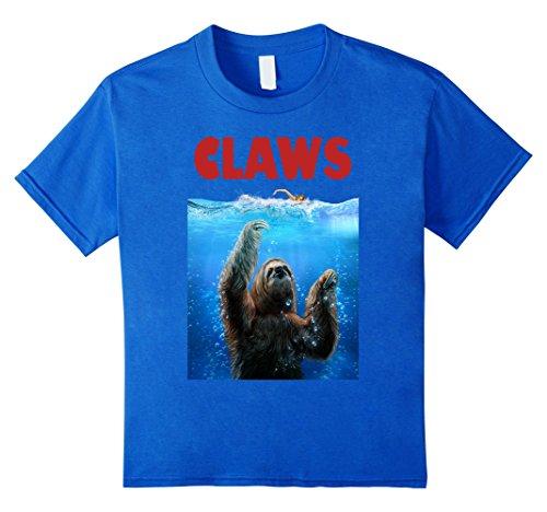 T-Shirt - Sloth Terrorizing Swimmer, Beware Of Claws -