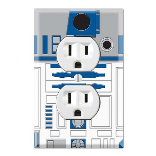 Outlet Bedroom Cover (Duplex Wall Outlet Plate Decor Wallplate - Star Wars R2-D2 R2D2)