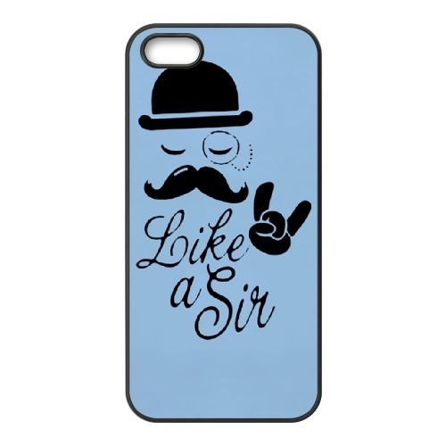 Hat And Moustache Comedy 001 2 coque iPhone 4 4S cellulaire cas coque de téléphone cas téléphone cellulaire noir couvercle EEEXLKNBC25663