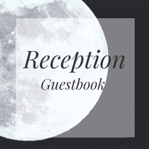 Reception Guestbook: Full Moon Halloween Spooky Night sky Birthday Party Anniversary Wedding Birthday Memorial Farewell Graduation Baby Shower Bridal ... Space/Milestone Keepsake Special Memories -