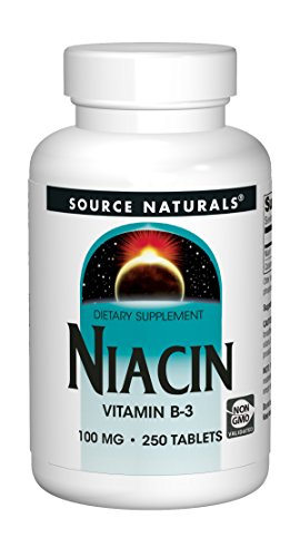Source Naturals Niacin Vitamin B-3 100mg Metabolic Support - 250 Tablets