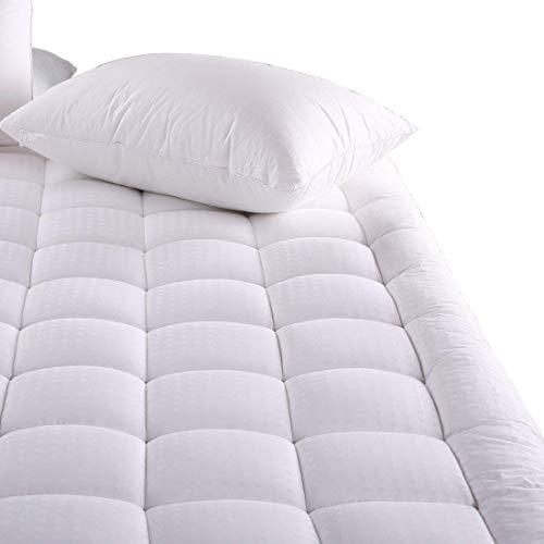MEROUS Queen Size Cotton Mattress Pad - Pillow Top Quilted Mattress Topper