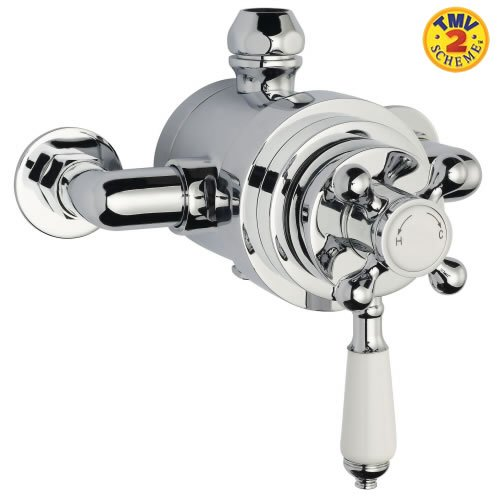 Traditional Dual Exposed Thermostatic Bathroom Shower Valve by Traditional Products Uncategorized
