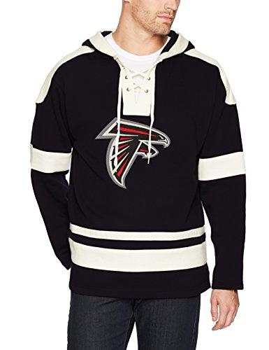 NFL Atlanta Falcons Men's OTS Grant Lace Up Pullover Hoodie, Logo, - Atlanta Falcons Pullover Nfl