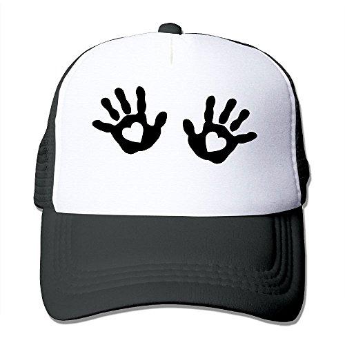 (NONGFU Baby - Hands - Handprint - Heart Big Foam Snapback Caps Mesh Back Adjustable)