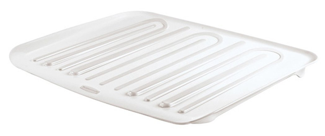 Rubbermaid Dish Drainer Tray, Plastic, Black, 1938748 Rubbermaid Food Products