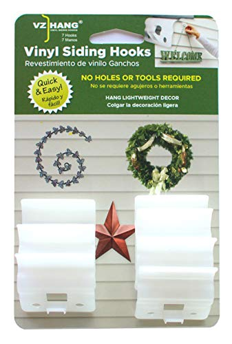 VZ Hang 7 Pack Vinyl Siding Hook - Inconspicuous - House Decor Siding