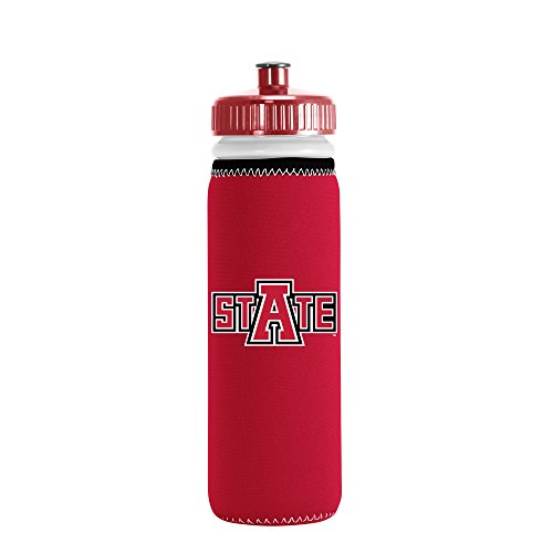 picture of NCAA Arkansas State Red Wolves Van Metro Squeezable LDPE Water Bottle, Red, 22-Ounce