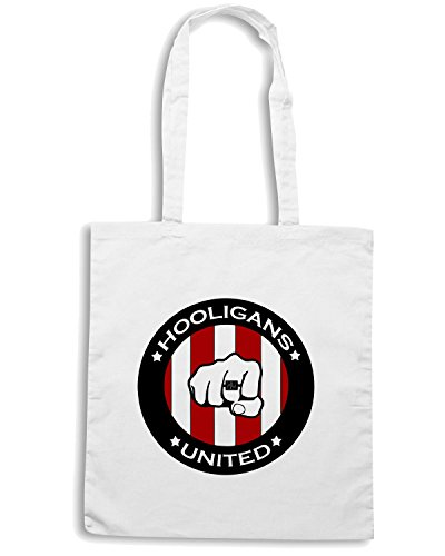 T-Shirtshock - Bolsa para la compra TUM0100 Hooligans United Blanco