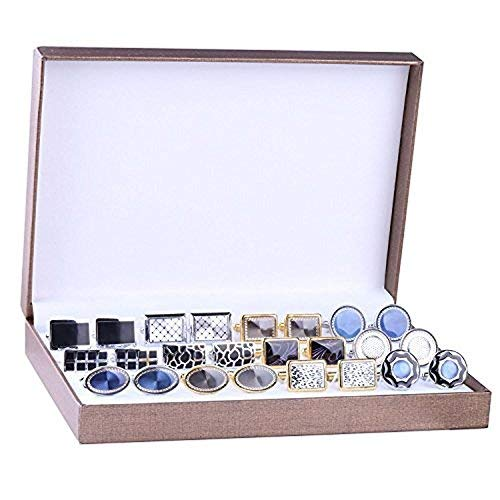 BodyJ4You Cufflink 12 Pairs Two Tone Classy Stylish Mens Cuff Links Elegant Gift Box