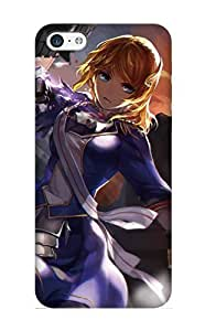 Hot Snap-on Anime Fate Stay Night Gun Explosion Dress Hard Cover Case/ Protective Case For Iphone 5c