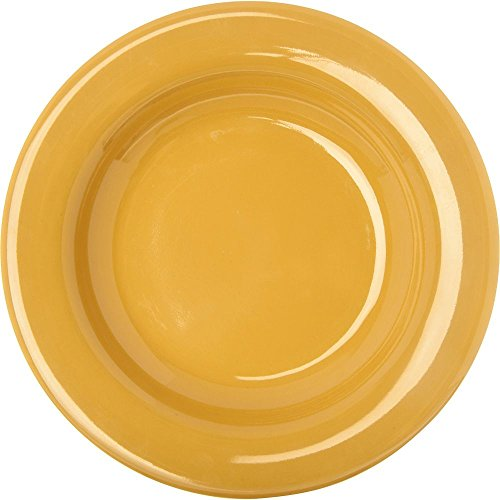 Carlisle Dining Room Table - Yellow Durus 20 Ounce Chef Salad-Pasta Bowl 12 inch - 12 per case