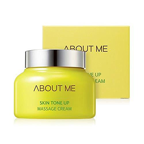 ABOUT ME Skin Tone Up Massage Cream 150ml - Smooth Facial Massage Peeling Oil Cream after Wash, Skin Brightening & Moisturizing, for Tough Skin, Acne Skin with Clogged Pores