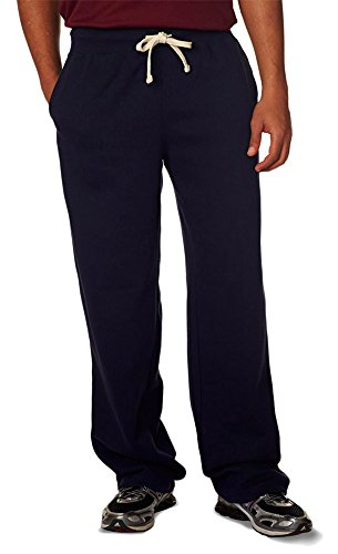 (Weatherproof Adult Cross Weave Open Bottom Sweatpant, Nvy, Medium)