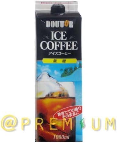 ドトールコーヒー ドトール ICE COFFEE(アイス コーヒー) 無糖 1000ml紙パック×12(6×2)本入