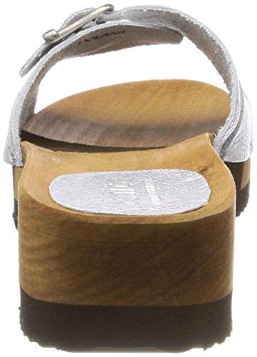 Flex Donna Sanita Randi Sabot Argento Sandal Silver xZqw0BwUa5
