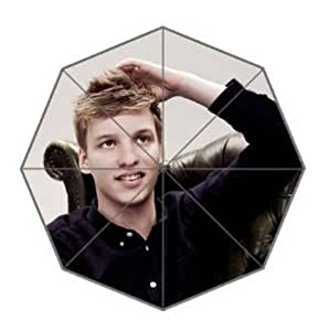 Smiling Face Design George Ezra Wind Resistant Floding Daily Use Travel Use Auto Foldable Umbrella Nice Gift for Someone