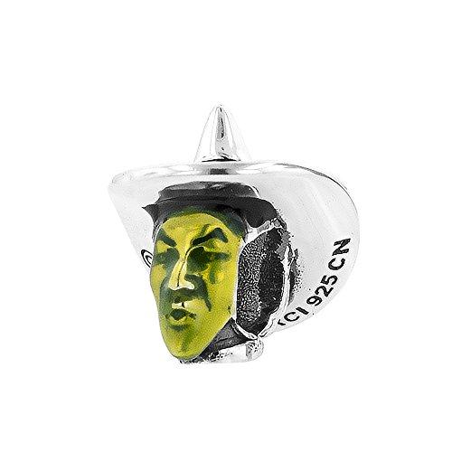 Sterling Silver Wizard of Oz Enamel Wicked Witch Bead Charm (Charm Bracelet Wicked)