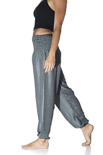 Tori Wear Harem Pants Smocked Elastic Waist Hippie Pants,Forest Green,One (1 Travel Pants)