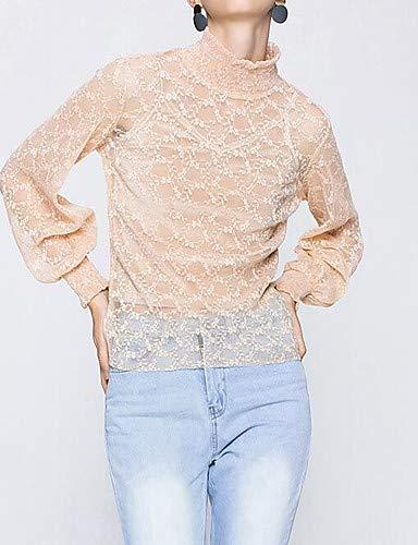 Unie roul Couleur Pink col de YFLTZ Sortie Blouse Femme de Blushing XqxO8gpw
