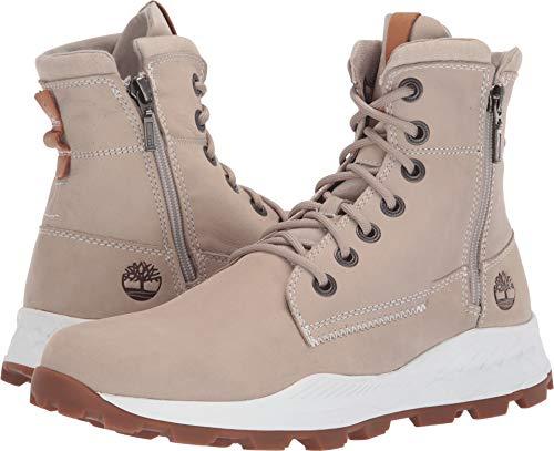 Timberland Mens Brooklyn Side Zip Boot, Light Taupe Nubuck, Size 9.5