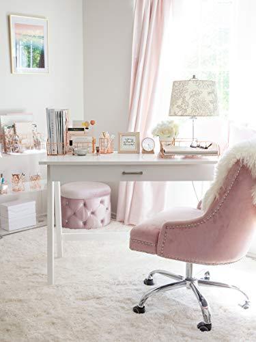 Blu Monaco Office Supplies Rose Gold Desk Accessories for Women - 4 Piece Wire Rose Gold Desk Organizer Set – Letter Sorter, Paper Tray, Pen Cup, Magazine File - Stationery Décor by Blu Monaco (Image #1)