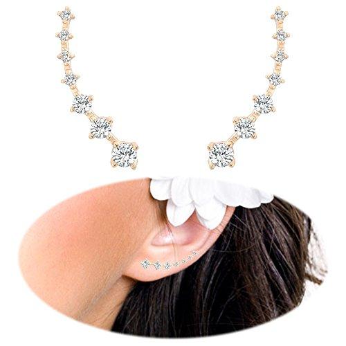 Crawler Earrings Climbers Crystal Rhinestone product image