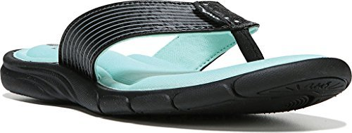 Ryka Womens Refresh Thong Sandal Black Yucca Mint Metallic Steel Grey Us 9 M