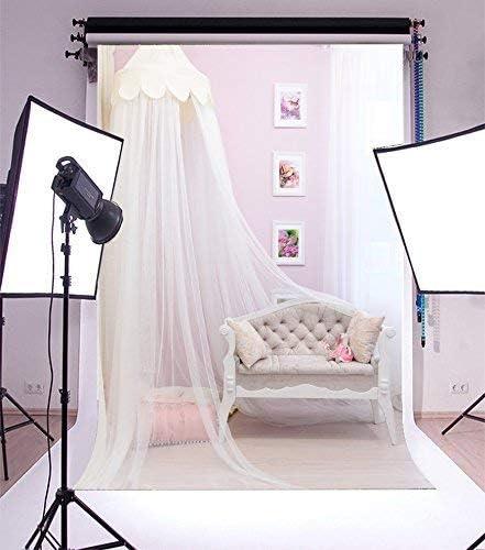 CdHBH 6x9ft Sofa Monochrome Yarn Curtain Floral Wreath Pillow Swan Window Portrait Clothing Photo Photography Background Cloth Studio Photo Photography Background Wallpaper Home Decor