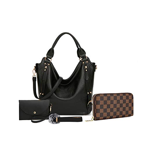 Women Leather Purse Phone Bags Handbags With Large Capacity Bags 4pcs