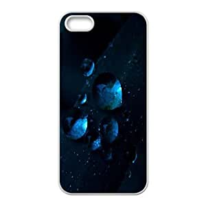 For Iphone 5C Phone Case Cover Macro Water Drops Dark Blue Grass Hard Shell Back White For Iphone 5C Phone Case Cover 341204