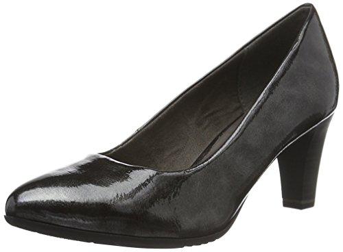 Jana 22400, Zapatos de Tacón para Mujer Negro (Black Met. Pat 091)