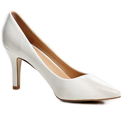 topschuhe24 - Zapatos de vestir para mujer Blanco - blanco