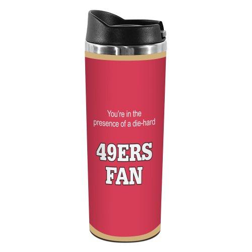 Tree-Free Greetings TT02134 49ers Football Fan 18-8 Double Wall Stainless Artful Tumbler, 14-Ounce]()