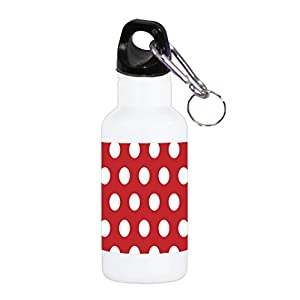 Red Background with White Polka Dot Polka Dots Pattern 20 ounce Stainless Water Bottle by Moonlight Printing