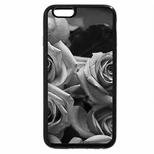 iPhone 6S Case, iPhone 6 Case (Black & White) - Roses for SherryAnn