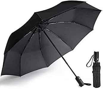 Moomin Retro Japanese Windproof Compact Auto Open And Close Folding Umbrella,Automatic Foldable Travel Parasol Umbrella