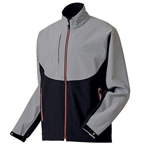 FootJoy Men's DryJoys Tour LTS Rain Golf Jacket (M, Steel Grey/Black) ()